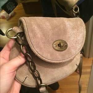 Fossil gold crossbody